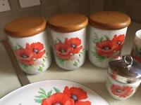 Royal Worcester Poppies Design various items
