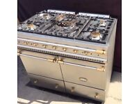 Lacanche Cluny Range Cooker in Stainless Steel and Brass Trim