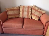 2 seater sofa - plenty of life left in it, very comfortable, arms slightly faded.
