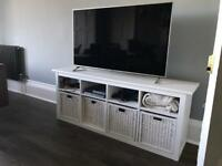 Ikea Hemnes TV console bench - white