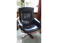 Brown/Tan Recliner Chair