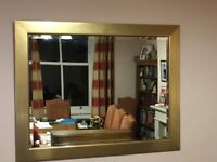Large Wall Mirror with Gold Painted Frame