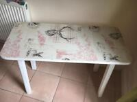 Up-cylced table, project table,