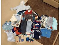 Baby boy clothes, 0-12mths, over 100 items