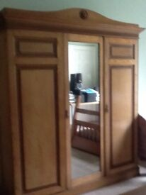 Large Victorian fitted wardrobe. Lovely looking piece of four iTunes in very good condition.