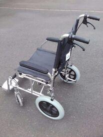 Folding Wheelchair with Handlebar Brakes & Lightweight