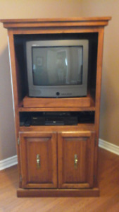 Custom Made Pine TV Cabinet and Dry Sink
