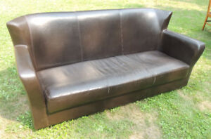 Faux Leather Couch & Chair - Available separately