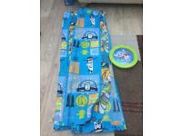 Toy story curtains and matching wall clock
