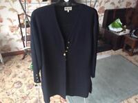 Cardigan - longline cardigan black