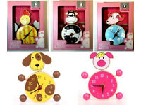 15 x Wholesale Joblot Kiddy Rooms Baby Kids Wooden Table Clock Toys