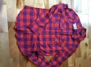 New American Eagle plaid shirt