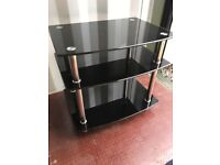 TV stand - with three glass shelves