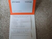 £50 john lewis gift card with receipt