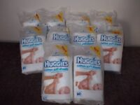 Ten New packs of Huggies cotton wool sheets