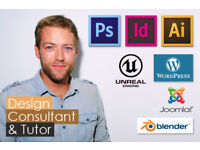 Design Consultant & Tutor: Marketing, graphics & web design, Adobe Software, Wordpress, CAD, 3D