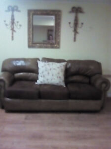 large brown couche