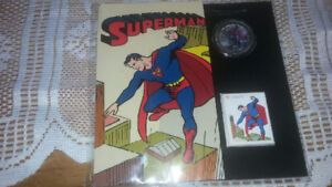 Superman Quarter and Stamp Set MINT $100 obo