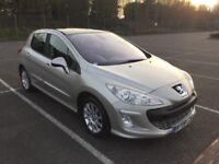 2008 Peugeot 308 1.6 diesel 12 months mot full service history £1695