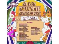 1 x Elrow ticket £40 - Sunday 20th August