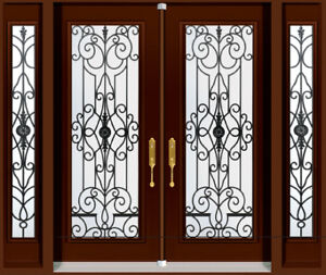 Double Front Entry Door Two Sidelights 2