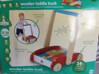 Wooden truck for toddlers