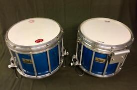 pearl marching snare drums x2
