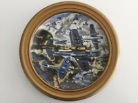 MOUNTED FRAMED FRANKLIN MINT THE BATTLE OF BRITAIN LIMITED EDITION PLATE