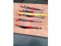 5 norwegian mirror fishing pirks/jiggers