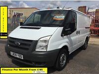 SALE SALE!! Ford Transit Van 2.2 300-1 Owner-EX BT, 85K Miles ,FSH -8 Stamps, 1YR MOT,Elec Windows