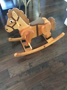 Solid handcrafted rocking horse