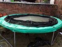 kids trampoline with net and poles