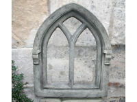 Stone Gothic Large Window Frame in Reconstituted Limestone - For Decorative Use