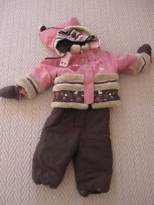 Designer French Snowsuit 18 Months - Includes Hat & Mitts