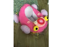 Pink soft toy car from 4 - 9 months