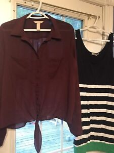 Gently used clothing (Size L & XL)