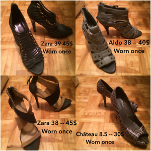 Shoes never worn or worn wonce