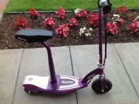 Razor Electric Scooter in purple (excellent condition, hardly used)