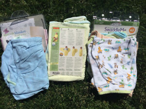 Swaddle blankets (x5)