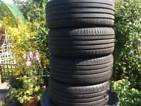 Continental ContiSport Contact 5 Tyres x 4 nearly new
