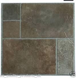 Adhesive floor tiles