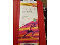 IAAF World Championships London, Friday 4th August, 2 Tickets. OPENING NIGHT, MENS 10,000 MTRS FINAL