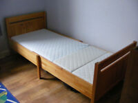 Ikea Trofast Pine Extending Childrens Bed with Mattress