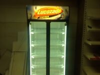 Drinks display fridge,gas griddle,commercial double sink.