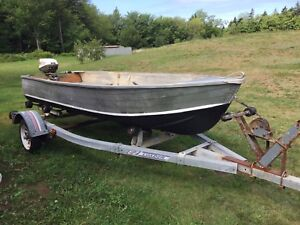 12FT Aluminum Boat , Motor & Trailer