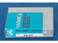 Yashica Focusing screen FA-51 for 200, 230, 270-AF. As new, NOS