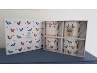 4 x Alex Clark Mugs, Lovebirds in Presentation Box