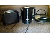 Kettle, Toaster, sandwich maker