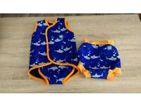Boys splash About body wrap and swim pants 18/24 mths