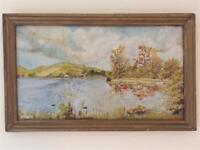 Oil painting of Lindores Loch